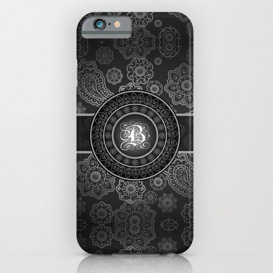 Monogrammed Aridi B Black and White iPhone & iPod Case