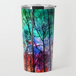 colorful abstract forest Travel Mug