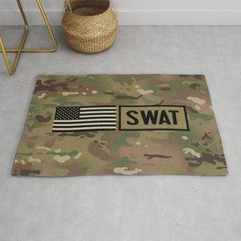 SWAT: Woodland Camouflage Rug