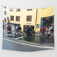 cycling Wall Tapestries featuring Cycling life by biCHICleta