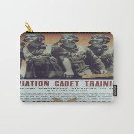 Vintage poster - Aviation Cadet Training Carry-All Pouch
