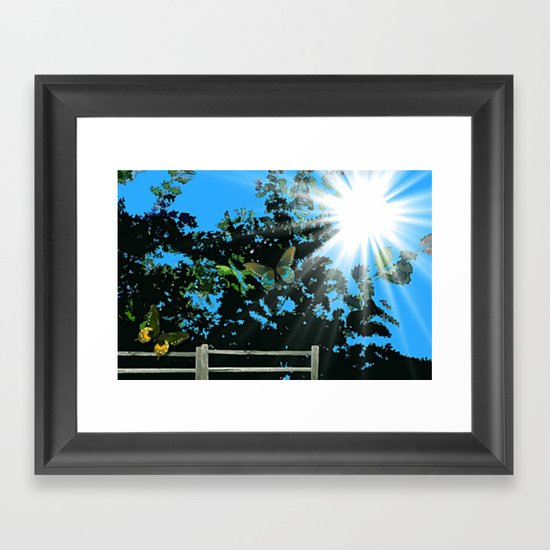 On the edge of the garden. Framed Art Print