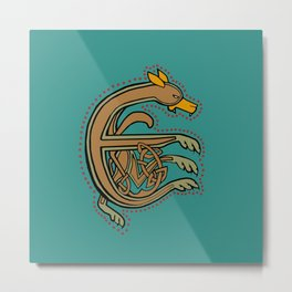 Celtic Hound Letter E 2018 Legs Version Metal Print