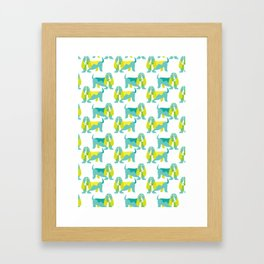 Bertie Basset pattern Framed Art Print