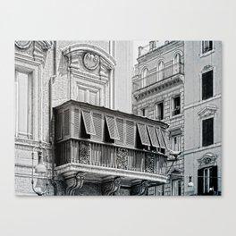 Roman city balcony Canvas Print