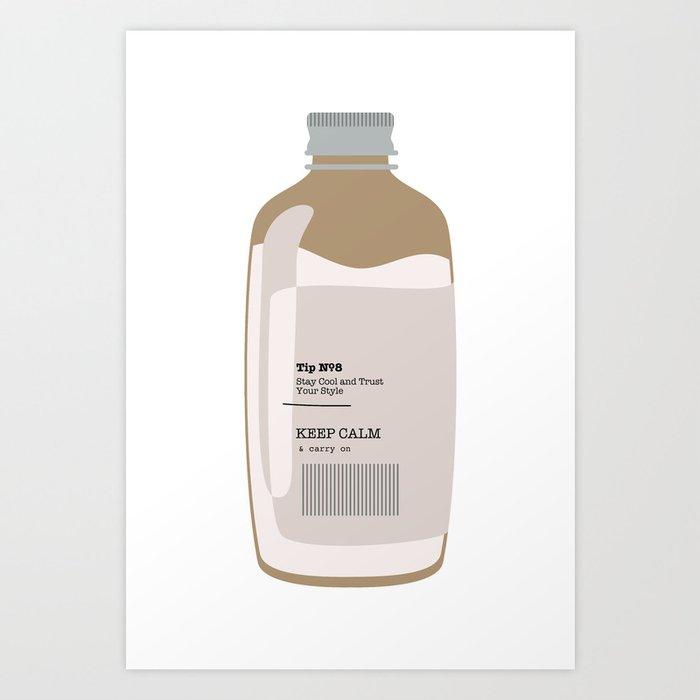 Tip in a Bottle №8 Art Print