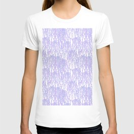 Cascading Wisteria in Lilac + White T-shirt