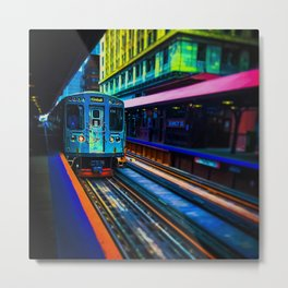 Brown Line Approaching Metal Print