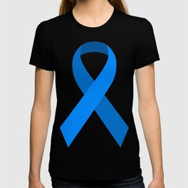 Blue Awareness Support Ribbon T-shirt