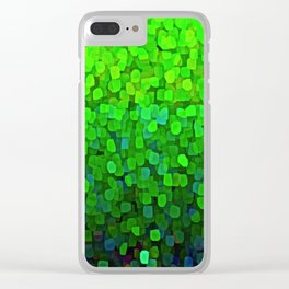 Glitter Sparkles Green Clear iPhone Case