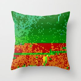 Dr Glitch Pattern Throw Pillow