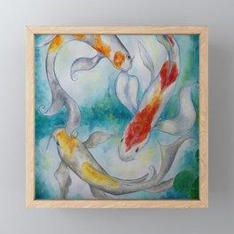 Fire Koi Framed Mini Art Print