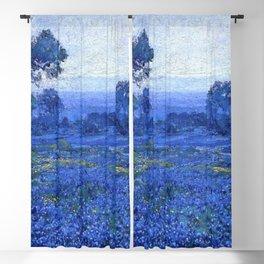 Bluebonnet pastoral scene landscape painting by Robert Julian Onderdonk Blackout Curtain