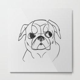 PUG - DOG SERIES NO.001 Metal Print