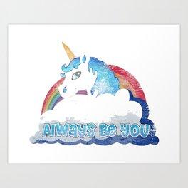 Central Intelligence Unicorn Art Print