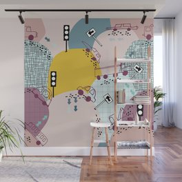 Four wheels Pink #homedecor Wall Mural