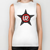 u2 Biker Tanks featuring U2 by loveme