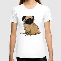 pug T-shirts featuring Pug by Sandra Rivas