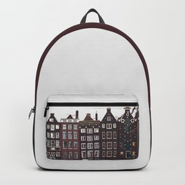 Traditional houses in Amsterdam Backpack