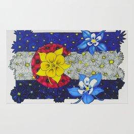 Colorado Columbine Flag Rug