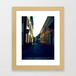 Simple Cobblestone Street. Framed Art Print
