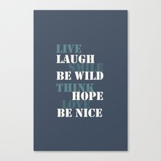 Positive attitude blue Canvas Print
