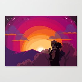 HQ!!: Sunset Walk Canvas Print