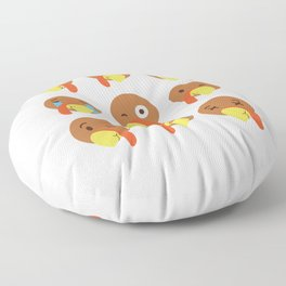 Turkey Emojis For Thanksgiving Day Floor Pillow