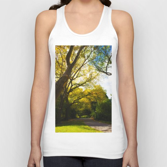 walking in Central park Unisex Tank Top