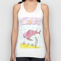 tennessee Tank Tops featuring Tennessee Lake Sturgeon by Ryan van Gogh