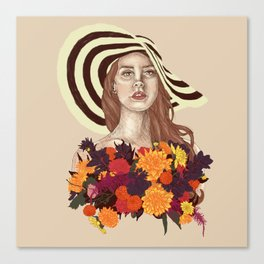 A flower between flowers // Del Rey with a bouquet Canvas Print