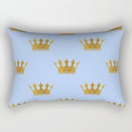 Louis Blue Gold Crown Prince of Cambridge Rectangular Pillow