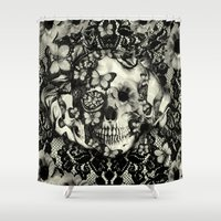 gothic Shower Curtains featuring Victorian Gothic by Kristy Patterson Design