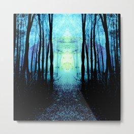 Mystic Blue Sun : Path to Imagination Metal Print