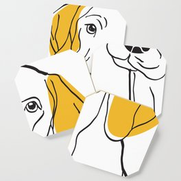 Dog Modern Line Art Coaster