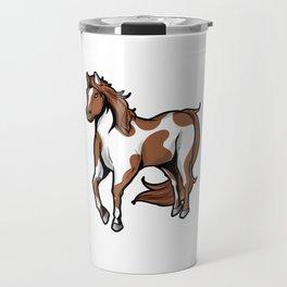 American Paint Horse horseriding riding Pony Present Travel Mug