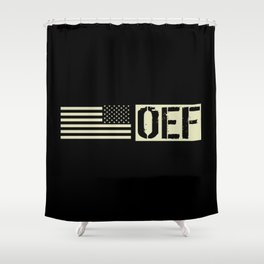 U.S. Military: OEF Shower Curtain