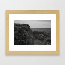 Rock and a Hard Place Framed Art Print