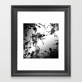 Punkoco Floral Monochrome Framed Art Print