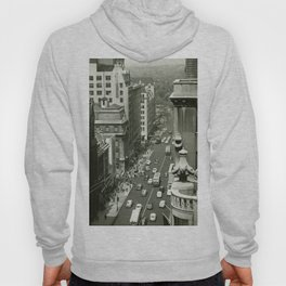 Fifth Avenue, New York City, B&W, high angle view 1950s vintage photo Hoody