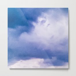 BEFORE THE STORM: BLUE CLOUDS Metal Print