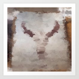 Car Part Cow Skull Art Print
