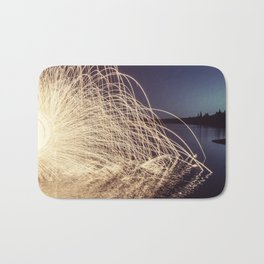 Sparking into the Lake Bath Mat