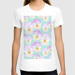 Pansies Dream #1 #floral #pattern #decor #art #society6 T-shirt