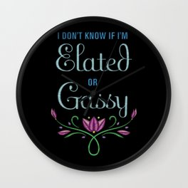 Elated or Gassy? from Frozen Wall Clock