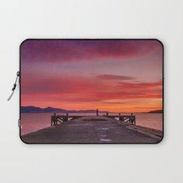 Sunset and Fishermen Laptop Sleeve