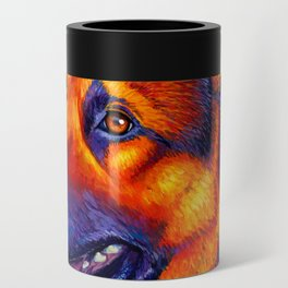 Colorful German Shepherd Dog Can Cooler