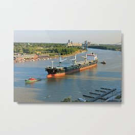Polsteam on the Maumee Metal Print