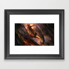 Black Crystal Dragon Framed Art Print