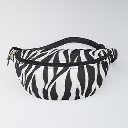 Black And White Zebra Stripes Fanny Pack